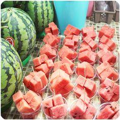 fresh watermelon cut! who doesn't love watermelon!!