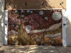 Created by David Goldberg, this mural is composed of over 1,250 doorknobs, back plates, and levers