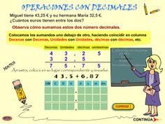 #mateTIC Operaciones con números decimales: sumar