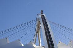 SkyCar Stadium Architecture, Sports Stadium, George Washington Bridge, Travel, Art, Voyage, Viajes, Kunst, Traveling