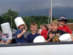 Having Fun in the Minerva Homecoming Parade throwing candy from the Minerva Dairy Truck. | Minerva Dairy