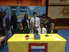 LeFlore High School team competing at the Hi-Q Academic Competition at Citronelle High in Mobile, Alabama