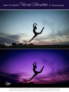 Learn how to create a dramatic, vibrant silhouette image in Photoshop {via iHeartFaces.com}