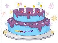digibord verjaardagstaart