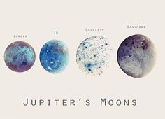 Io, Europa, Callisto, and Ganymede! I have a poster of them on my wall over by bed. <3
