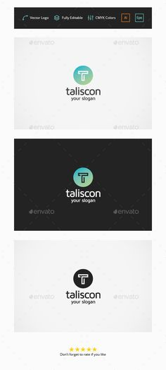Taliscon T Letter - Logo Design Template Vector #logotype Download it here: http://graphicriver.net/item/taliscon-t-letter-logo/5775897?s_rank=99?ref=nexion