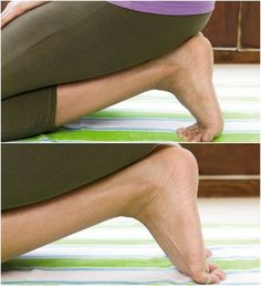 Remedies To Relief Pain Foot pain? Try this stretch. - Try this quick stretch for foot pain relief Plantar Fasciitis Stretches, Plantar Fasciitis Exercises, Plantar Fasciitis Treatment, Plantar Fasciitis Shoes, Ankle Exercises, Foot Stretches, Bunion Exercises, Ankle Pain, Heel Pain