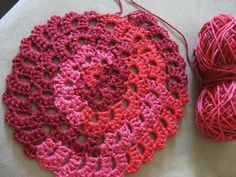 Flower Spiral Motif Pattern - Crochet Tutorial - YouTube