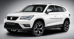 Seat's Large SUV Influenced By The Skoda Kodiaq In New Renderings