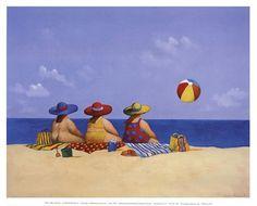 Three Ladies Sunning Fine-Art Print by Michael Paraskevas at FulcrumGallery.com