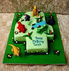 dinosaurs cake by The House of Cakes Dubai, via Flickr