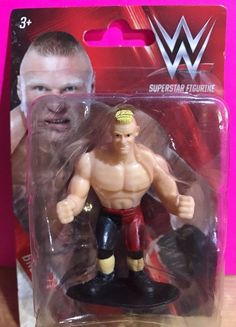 """Brock Lesnar WWE Superstar 3"""" Mini Action Figure 2016 New In Package #BeverlyHillsTeddyBearCompany"""