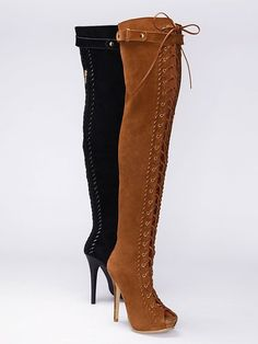 Colin Stuart Lace-up Over-the-knee Boot