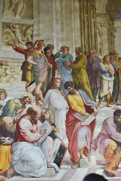 La Scuola di Atene. Raffaello Sanzio | The School of Athens. Raphael.Detail (1509–1510) Vatican Museum, Italy