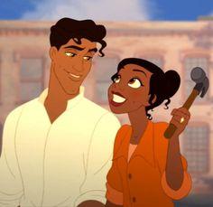 Prince Naveen and Princess Tiana Every Disney Princess, Disney Princess Outfits, Disney Princess Quotes, Disney Couples, Disney Princesses, Film Princess, Sailor Princess, Princess Hair, Princess Sofia