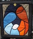Nativity quilt block:  maybe use for window cling