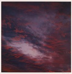 Sunset Clouds, Tesuque, New Mexico Eliot Porter / 1960 / Dye transfer print.