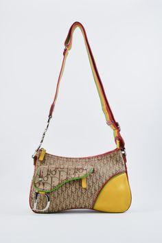 d454b5f770a4 Christian Dior Canvas Rasta Leather Saddle Hand Shoulder Bag  316 ...