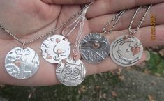 Items similar to Sterling Silver Pendants, Birds, Owl, Keys and Moon on Etsy Gold And Silver Bracelets, Cheap Silver Rings, Silver Rings With Stones, Black Gold Jewelry, Sterling Silver Cross, Sterling Silver Necklaces, Silver Earrings, Silver Charms, Enamel Jewelry