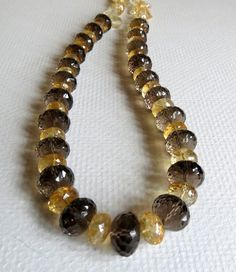 Items similar to Larger Brown Quartz and Citrine Necklace with Sterling Silver, Handmade Jewelry on Etsy Etsy Jewelry, Beaded Jewelry, Handmade Jewelry, Jewelry Necklaces, Beaded Bracelets, Gemstone Necklace, Quartz, Women Jewelry, Gemstones