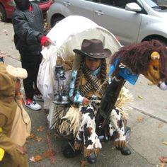Home made Halloween costume with wagon