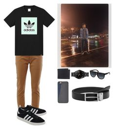 """""""Just out and about. -Kenneth"""" by the-walking-dead-and-wwe-lover ❤ liked on Polyvore featuring adidas, adidas Originals, Levi's, Rado, Carrera, FOSSIL and MANGO MAN"""