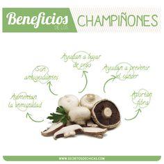 Beneficios de los champiñones