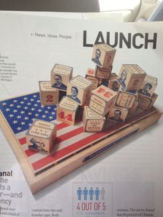 Wooden blocks with US Presidents by Uncle Goose