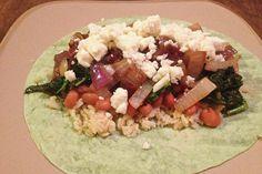 Kale and Feta Burrito