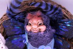 OOAK Baby Goblin Pixie Fairy Fantasy Art Doll Bundled by NinaBolen, $40.00  https://www.etsy.com/listing/198726728/ooak-baby-goblin-pixie-fairy-fantasy-art?