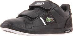 Lacoste Europa 2 Strap Hook and Loop Sneaker (Toddler/Little Kid) Lacoste. $41.65. Rubber sole. 100% Authentic. leather. Brand New In Box