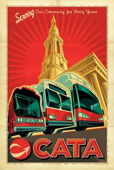 CATA Transit Poster by Mark Bender, via Behance