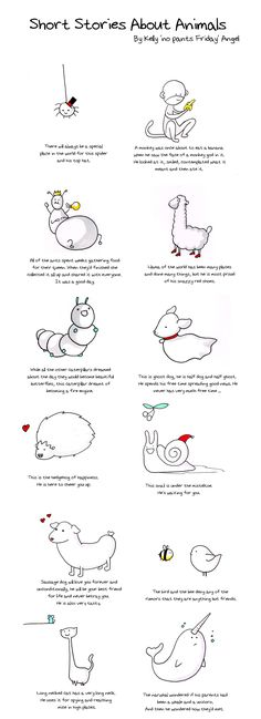 i love these cute little drawings! and the adorable stories