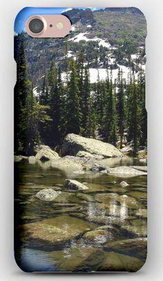 iPhone 7 Case Lake, Fir-trees, Water, Transparent, Reservoir, Mountains