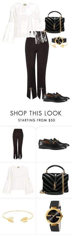 """""""."""" by amber-xx12 ❤ liked on Polyvore featuring Topshop, Gucci, Sea, New York, Yves Saint Laurent and Lord & Taylor"""