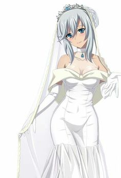 Princess Krulcifer wears wedding dress Undefeated Bahamut #anime Infinite Stratos Taboo Tatoo Fairy tail originally shared: Kawaii