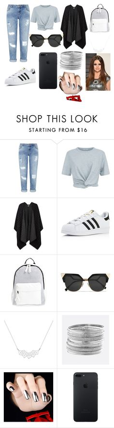 """Untitled #88"" by bosniamode ❤ liked on Polyvore featuring Miss Selfridge, T By Alexander Wang, Nümph, adidas, Poverty Flats, Fendi, A Weathered Penny and Avenue"