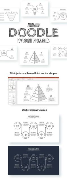 Doodle Animated Infographics Presentations Presentation Video, Presentation Design, Presentation Templates, Powerpoint Tutorial, Powerpoint Template Free, Microsoft Powerpoint, Templates Free, Creative Powerpoint, Creative Resume