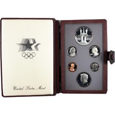 1984-S 6-Coin Prestige Proof Set including Los Angeles Olympics Silver Dollar