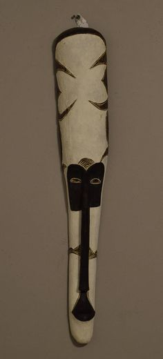 African Mask Long Fang Mask Gabon Africa Colorful Handmade