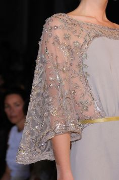 Elie Saab at Couture Fall 2012 : Elie Saab - Fall 2012 Couture Elie Saab Haute Couture, Haute Couture Fashion, Wedding Dress Sleeves, Lace Dress, Dress Up, Robes Glamour, Abed Mahfouz, Elie Saab Fall, Chanel Cruise