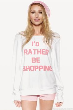 Wildfox Couture - RATHER BE SHOPPING BAGGY BEACH JUMPER
