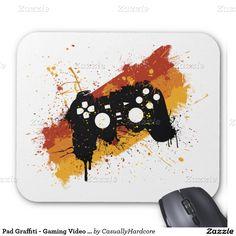 Pad Graffiti - Gaming Video Games Gamer Mouse Pad