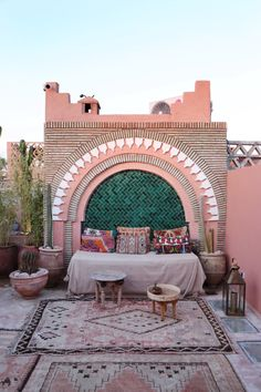 Riad Be in Marrakech - Little Miss Notting Hill Moroccan Design, Moroccan Style, Outdoor Spaces, Outdoor Living, Outdoor Decor, Exterior Design, Interior And Exterior, Moroccan Garden, Style Marocain