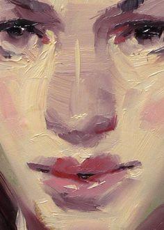 """Torrent"" (close-up of female), John Larriva art"