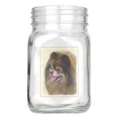 Pomeranian (Black and Tan) Mason Jar - mason jars gifts ideas presents