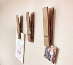 What a unique and fun way to display photos, kids drawings or notes to your home, nursery or office with a large rustic decorative walnut