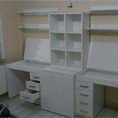 Small Room Design Bedroom, Craft Room Design, Bedroom Closet Design, Bedroom Decor, Sewing Room Storage, Craft Room Storage, Cute Room Ideas, Cute Room Decor, Home Office Design