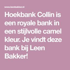 Hoekbank Collin is een royale bank in een stijlvolle camel kleur. Je vindt deze bank bij Leen Bakker! Preston, Furniture, Chair, Cleaning, Home Furnishings, Arredamento