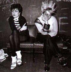 Siouxsie (Susan Ballion) and Jordan (Pamela Rooke) photographed by punk photographer Ray Stevenson, c1976/7
